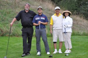 Photo of players at annual YFC Golf Tournament Fundraiser